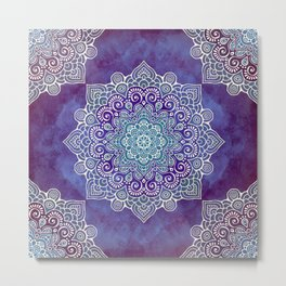 Mandala Floral Metal Print