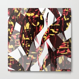 Abstract Leaves Metal Print