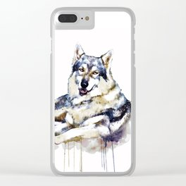 Smiling Wolf Clear iPhone Case