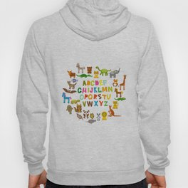 back to school. alphabet for kids from A to Z. funny cartoon animals Hoody