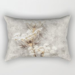 French Country Queen Anne's Lace Rectangular Pillow