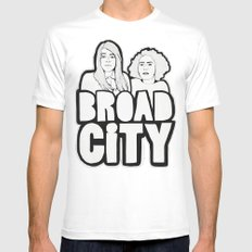 Broad City White MEDIUM Mens Fitted Tee