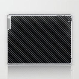 Dark Shadow and Black Stripe Laptop & iPad Skin