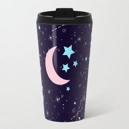 Starry night with constellations Travel Mug