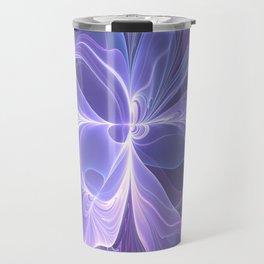 Abstract Art, Purple Fantasy Fractal Travel Mug