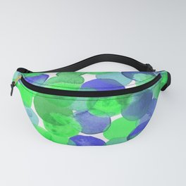 Watercolour Circles- Green and Blue Palette Fanny Pack