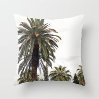 palms Throw Pillows featuring PALMS by natalie sales