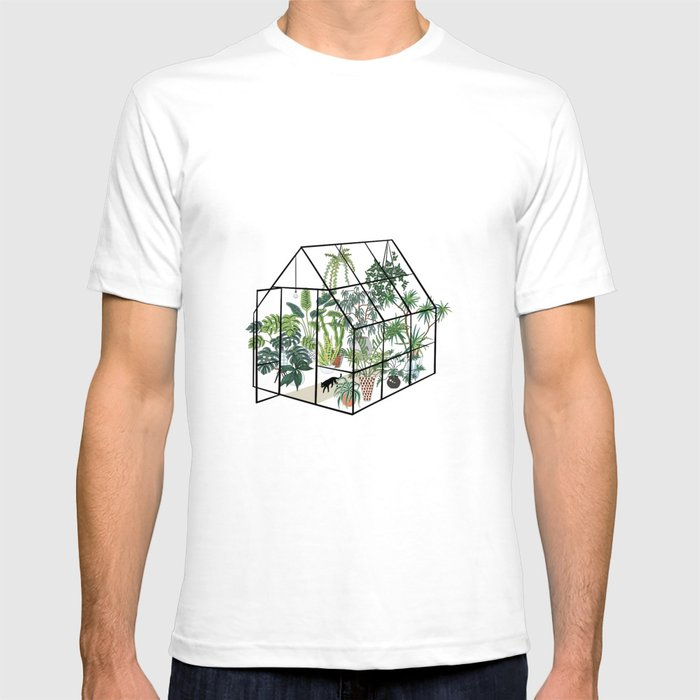 greenhouse with plants T-shirt