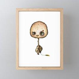 Little Tortoise with flower Framed Mini Art Print