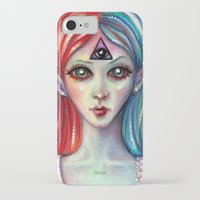 third eye iPhone & iPod Cases featuring Third Eye by Mary Nason (MiaSnow)