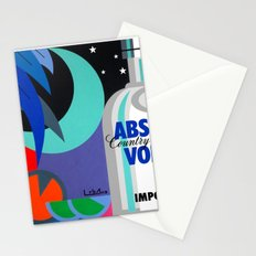 Absolut at Night - Paint Stationery Cards