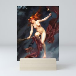 "Luis Ricardo Falero ""Muse of the Night (also known as The Witches Sabbath)"" Mini Art Print"