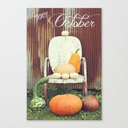Happy October Canvas Print