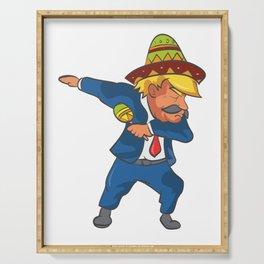 Trump Mexico Dab Dance USA America Donald Dabbing Serving Tray