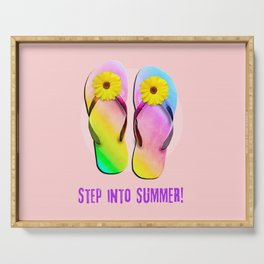 Step into Summer! Serving Tray