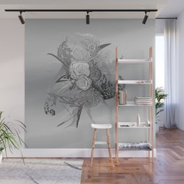 50 Shades of lace Silver Silver Wall Mural