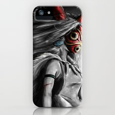 Miyazaki's Mononoke Hime Digital Painting the Wolf Princess Warrior Color Variation iPhone (5, 5s) Slim Case