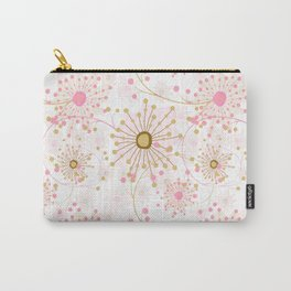 Retro . Abstract pattern Dandelions . Carry-All Pouch