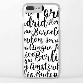Europe Clear iPhone Case