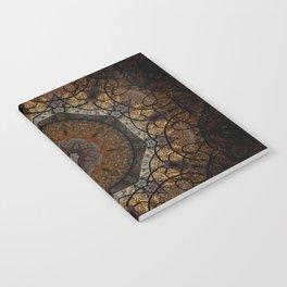 Rich Brown and Gold Textured Mandala Art Notebook