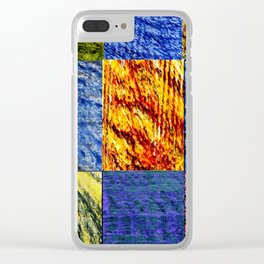 Patchwork color gradient and texture 1 Clear iPhone Case