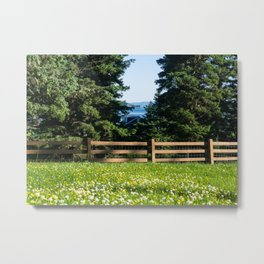 Alaska Flower Field Metal Print