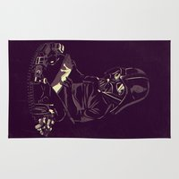 dark side Area & Throw Rugs featuring Dark Side by yortsiraulo