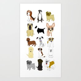 Pet dogs design Art Print