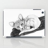 sphynx iPad Cases featuring sphynx by Sara Kallioinen Lundgren