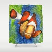 nemo Shower Curtains featuring I Found Nemo by Heather Torres Art