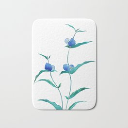 spreading dayflower Bath Mat