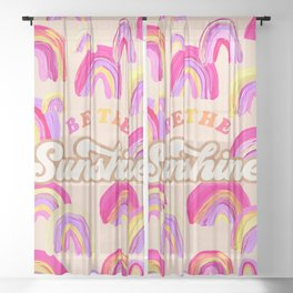 Be the Sunshine – Pink Palette Sheer Curtain