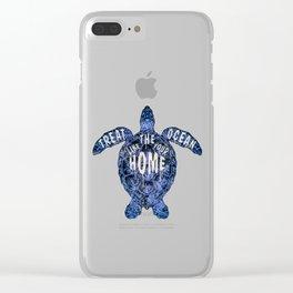 ocean omega (variant 3) Clear iPhone Case