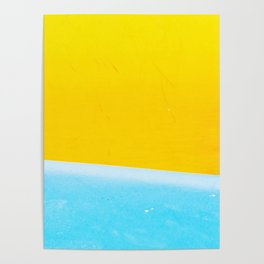 Sea & Sand Watercolor painting Abstract Poster