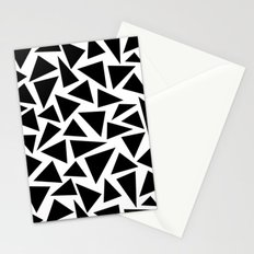 Black and White Triangle Stationery Cards