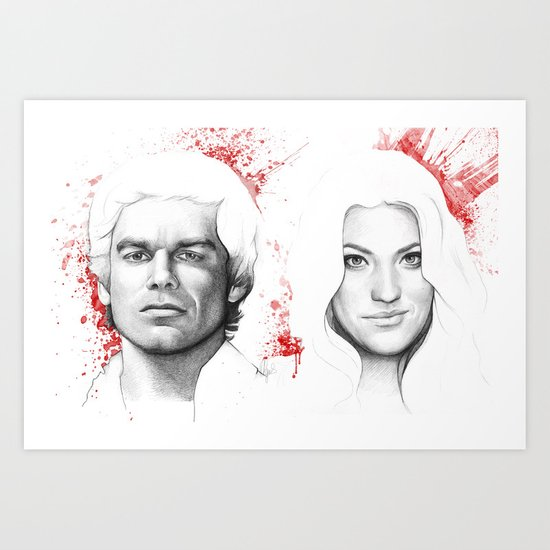 Dexter and Debra Art Print