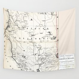 Northern California Map 1866 Wall Tapestry