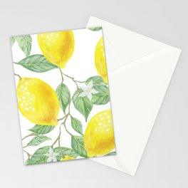 Lemons and Leaves Watercolor Illustration, The Branches Of The Lemon Tree, Watercolor Lemon Tree Stationery Cards