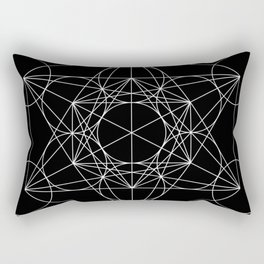 Metatron's Cube Black & White Rectangular Pillow
