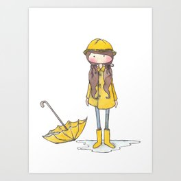 Time for Rain (white background) Art Print