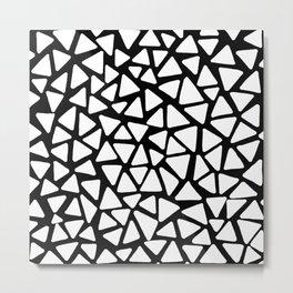 White Triangles Metal Print