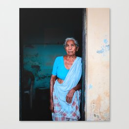 The Blue Lady  Canvas Print