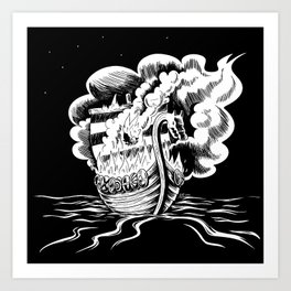 Viking Burial Art Print