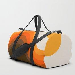 Golden Horizon Diptych - Left Side Duffle Bag