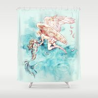 alicexz Shower Curtains featuring Star-cross'd Lovers by Alice X. Zhang