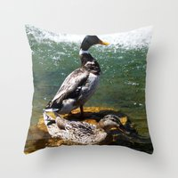 ducks Throw Pillows featuring Ducks by Siriusreno