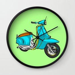 VESPA lambretta mod skin punk gafapasta hipster cool Wall Clock
