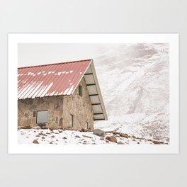 Shelter at Chimborazo Mountain in Ecuador Art Print