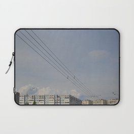 black wires of usuall city Laptop Sleeve