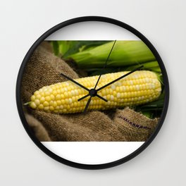 Corn on the Cob Wall Clock